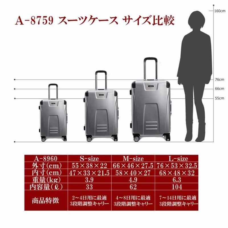 アウトレット スーツケース 大型 アルミフレーム キャリーケース キャリーバッグ TSAロック 大容量 Lサイズ|bbmonsters|06