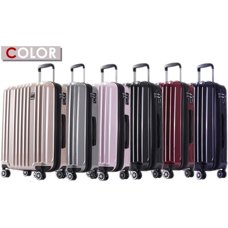 スーツケース Mサイズ 中型 軽量 キャリーバッグ ハードケース ファスナー 旅行用品 bbmonsters 12