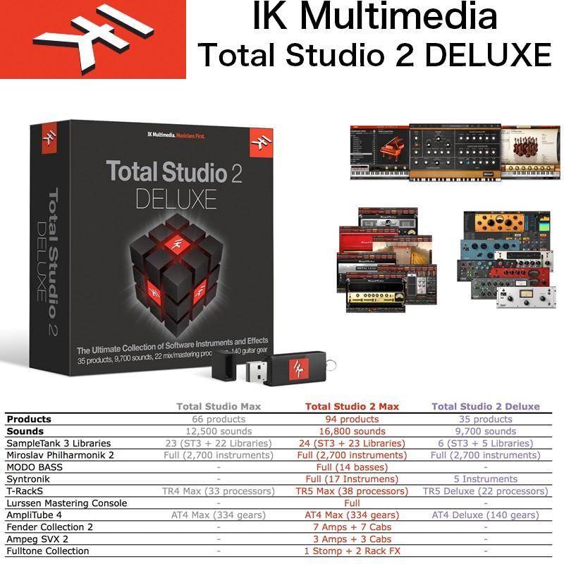IK MULTIMEDIA | Total Studio 2 DELUXE / IKマルチメディア トータルスタジオ 2 デラックス / SampleTank, Miroslav Philharmonik 2などバンドル 送料無料