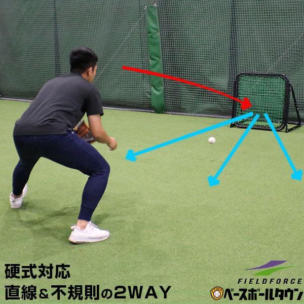 フィールドフォース ラッピング無料 野球 ストアー 守備 投球練習用ネット 硬式 イレギュラー 軟式 FPN-8086H ソフトボール対応 フィールディングネット