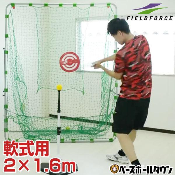 野球 練習 ネット 軟式用 2×1.6m 期間限定特価品 フィールドフォース ターゲット ラッピング不可 固定用ペグ付き FBN-2016N2 セットアップ