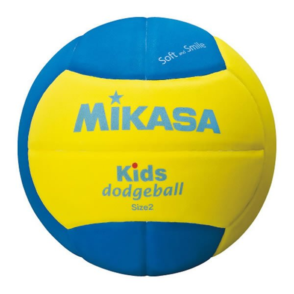 ミカサ キッズドッジボール2号 EVA 軽量約160g 青 ジュニア SD20-YBL 黄 お気に入 少年用 デポー