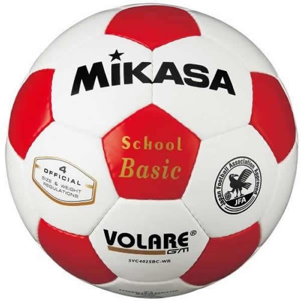 ミカサ サッカーボール オープニング 大放出セール 4号球 年間定番 検定球 白 SVC402SBC-WR 赤