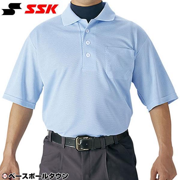 SSK ラッピング無料 野球 審判用 マート UPW027 半袖ポロシャツ