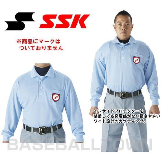 SSK 野球 審判用長袖ポロシャツ 2020春夏新作 卓越 UPW028 野球ウェア 大人 審判用品