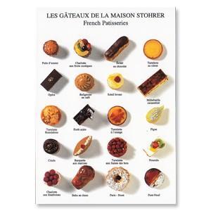 ポストカード スイーツ パリのパティスリー メイルオーダー 爆安プライス STOHRERのケーキの種類 heart