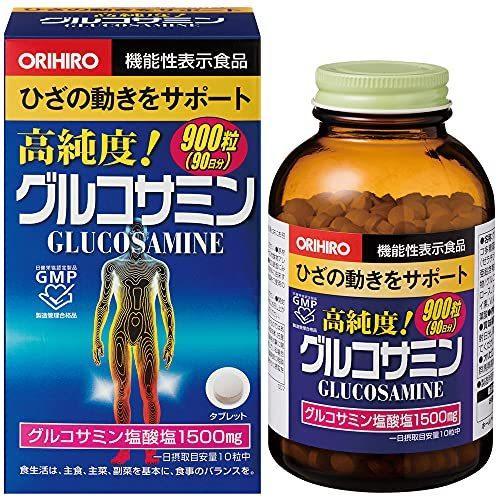 店 オリヒロ ディスカウント 高純度 グルコサミン 90日分 900粒 徳用