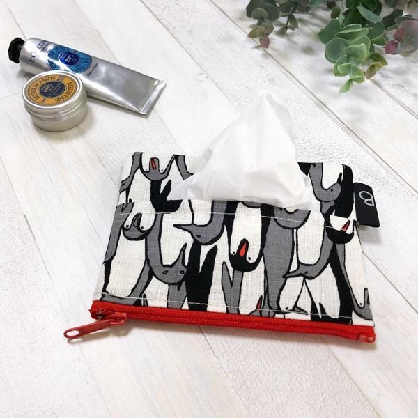 ポケットティッシュ カバー ポーチ ケース 子供 ギフト プレゼント  おしゃれ 可愛い 日本製 (ティッシュポーチ ペンギン柄)|bcolors|07