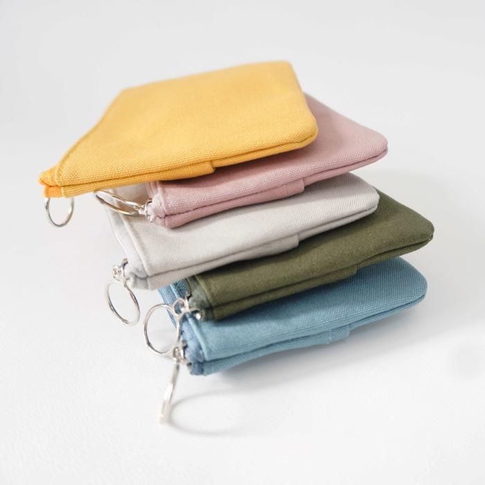 ポケットティッシュケース ティッシュカバー ポーチ 小さめ 小物入れ プレゼント シンプル カラー bcolors 07