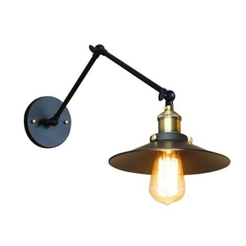 照明 壁 可動式 ウォールランプ 平傘型 ブラック(黒) 幅22×高66.5cm INK-1001029H INK-1001029H