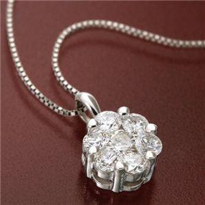 正式的 K18WG インビジブルセッティングダイヤモンドペンダント/ネックレス, PEDAL 20804846