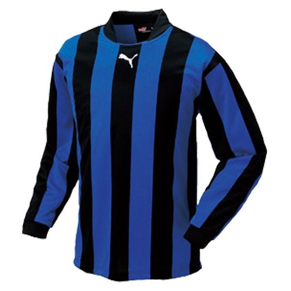 PUMA プーマ ストライプジュニアナガソデゲームシャツ 903298 01黒-青