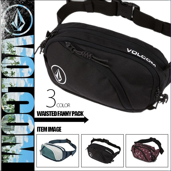 ボルコム ボディバック 人気 ブランド メンズ ウエストポーチ ワンショルダー 斜めがけ 黒 ブラック サイズ調整可 20代 30代 40代 プレゼント VOLCOM  D6511650|beachdays