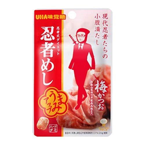 味覚糖 旨味シゲキックス 忍者めし 梅かつお味 20g×10袋|beads-store