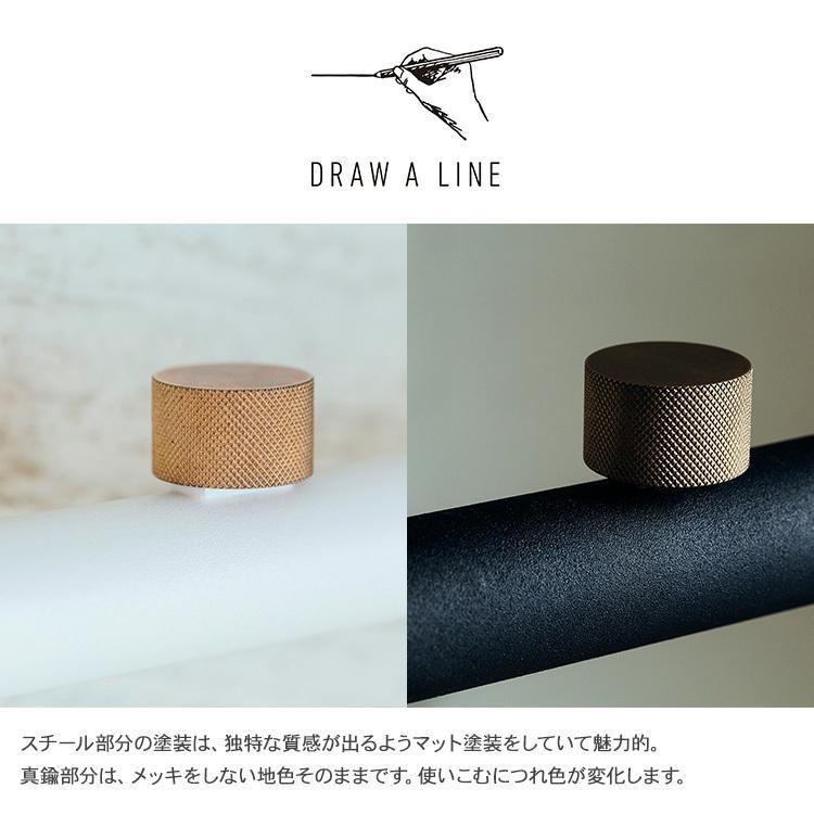DRAW A LINE 突っ張り棒 つっぱり棒 伸縮 小物 収納 おしゃれ 北欧 ドローアライン 突っ張りラックセット (ロッドC+トレイ)|beadsmania-shop|03