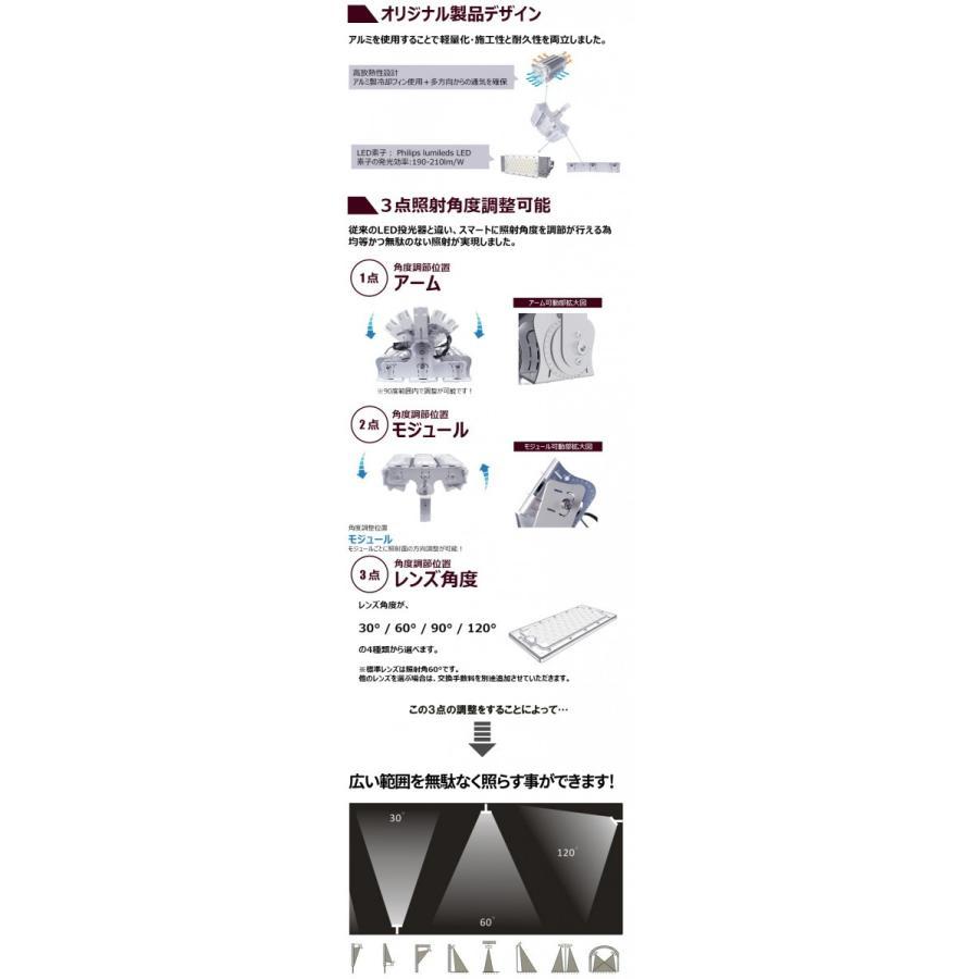 LED投光器 600W 投光器 LED 屋外 看板 駐車場 倉庫 工場 作業灯 防犯灯 LED高天井 照明器具 LEP600S ビームテック|beamtec-forbusiness|06