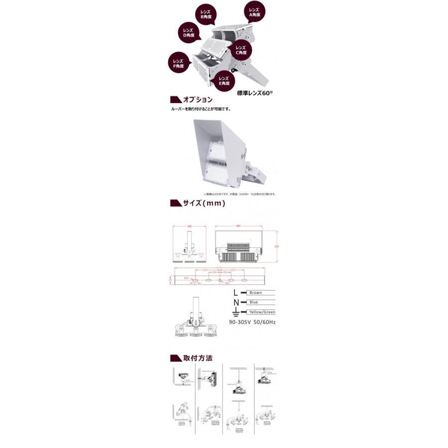 LED投光器 600W 投光器 LED 屋外 看板 駐車場 倉庫 工場 作業灯 防犯灯 LED高天井 照明器具 LEP600S ビームテック|beamtec-forbusiness|07