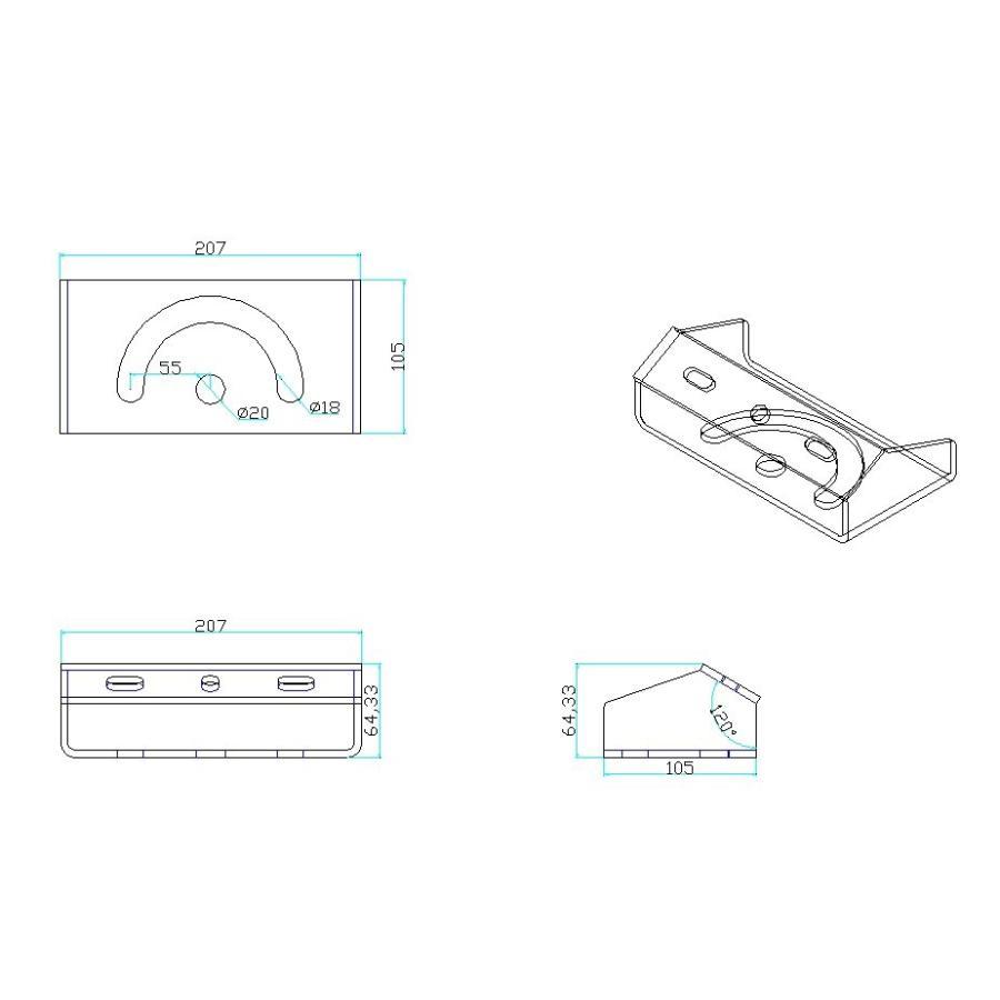 投光器 投光器取付用ホルダー マウント ホルダー 架台 投光器 舞台照明 照明用 LEPANGLE-GLAY ビームテック|beamtec-forbusiness|02