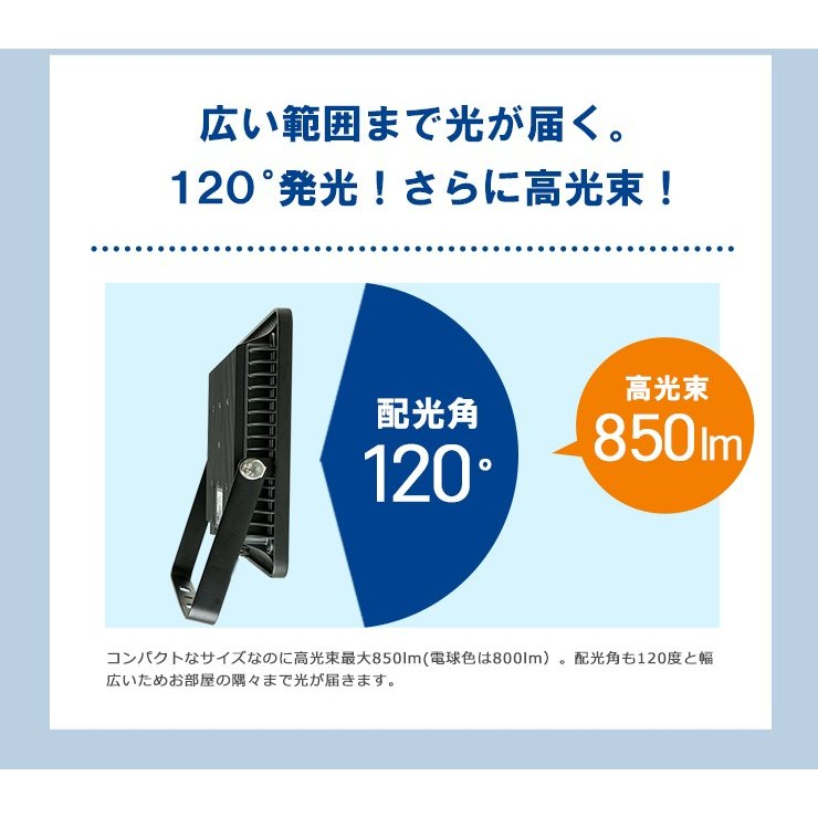 LED投光器 電球色 昼光色 黒 10W IP65 屋内 屋外 防塵 耐塵 防水 LEW010DOUK ビームテック|beamtec-forbusiness|14