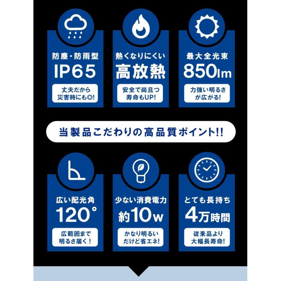 LED投光器 電球色 昼光色 黒 10W IP65 屋内 屋外 防塵 耐塵 防水 LEW010DOUK ビームテック|beamtec-forbusiness|06
