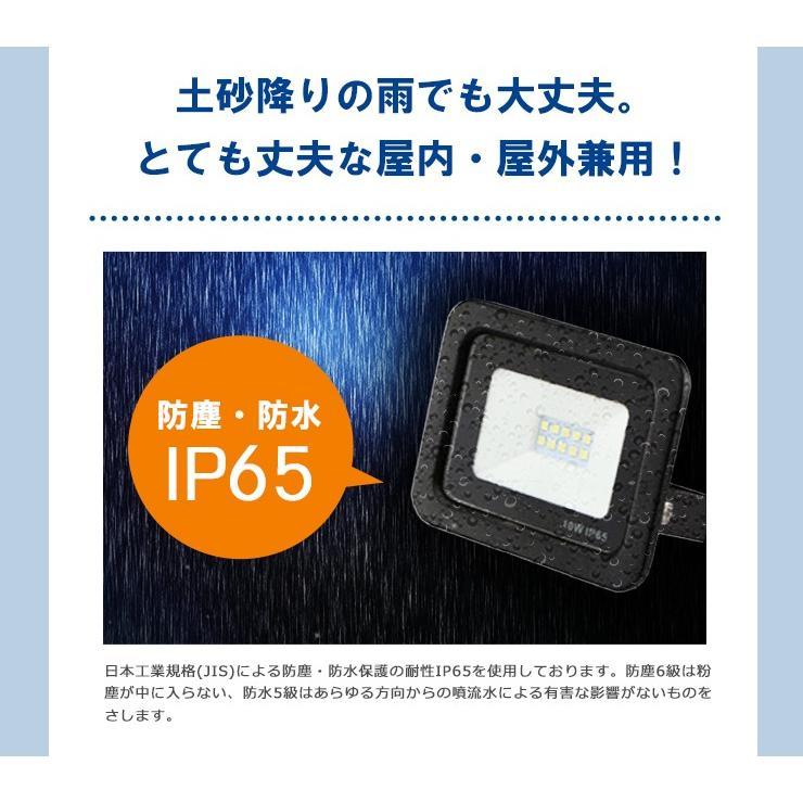 LED投光器 電球色 昼光色 黒 白 50W IP65 屋内 屋外 防塵 耐塵 防水 LEW050DOUK ビームテック|beamtec-forbusiness|08