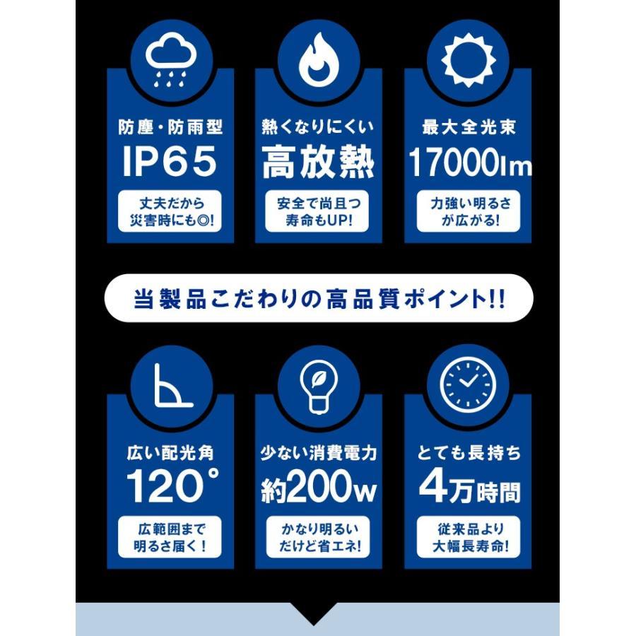 LED投光器 電球色 昼光色 黒 200W IP65 屋内 屋外 防塵 耐塵 防水 LEW200DOUK ビームテック|beamtec-forbusiness|06