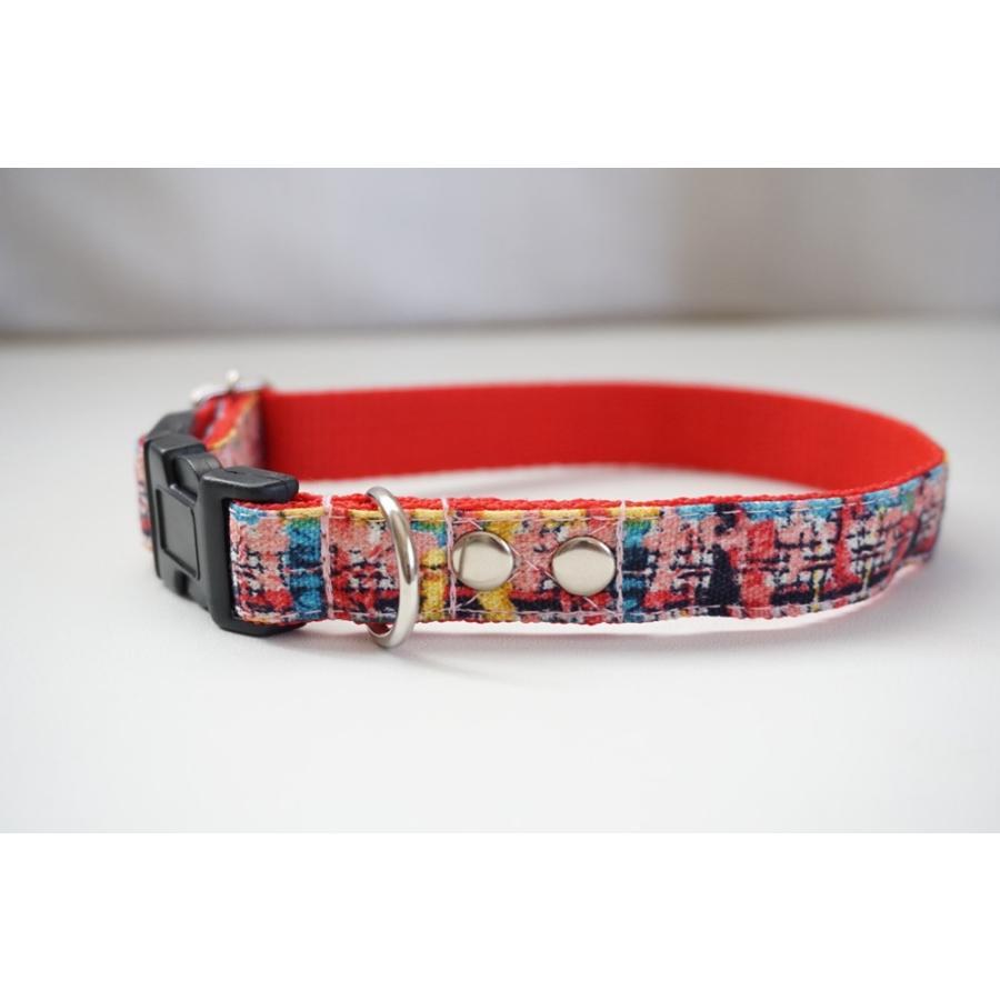 犬用首輪/ハーネス  フェイクツイード(全3色)  オーダーメイド品  小型犬  中型犬  子犬  (10mm/15mm/20mm幅)  チェック  猫の首輪|beans-factory|06