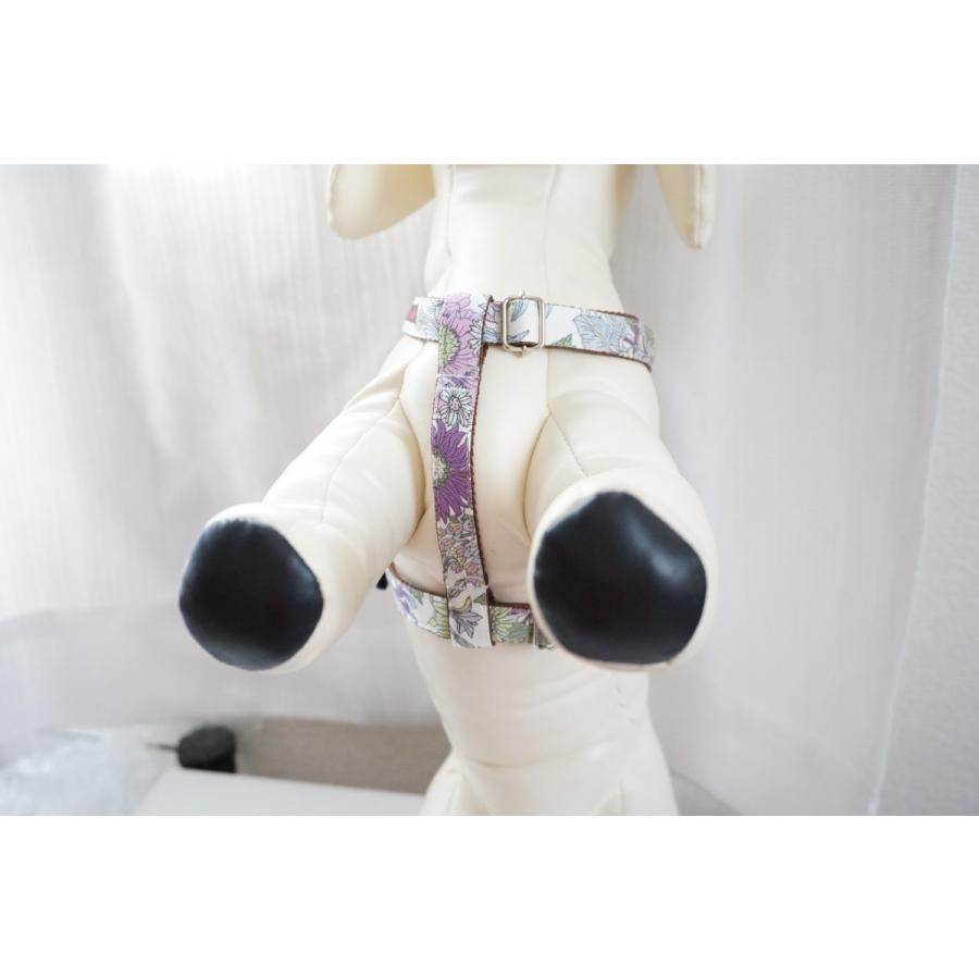 【オプション】首輪をダブルH型ハーネスに変更  犬用ハーネス  小型犬  中型犬  15mm/20mm幅  フルオーダーメイド|beans-factory|08