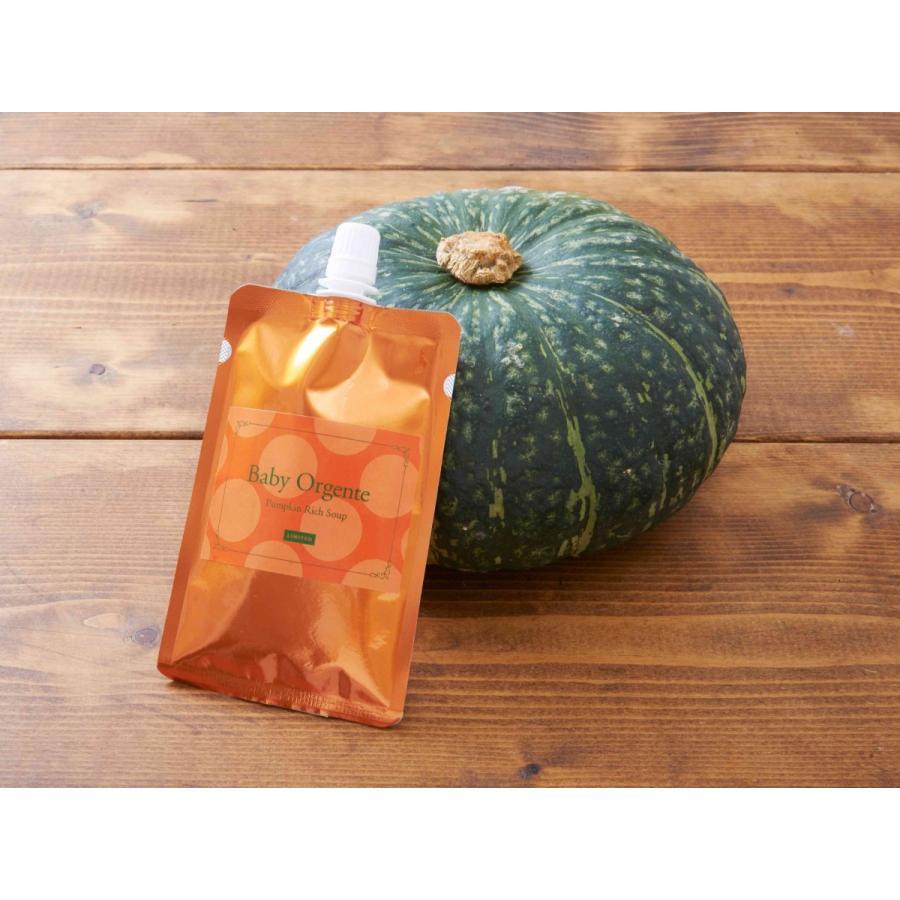 離乳食 激安通販販売 無添加 ベビーフード オーガニック 最新アイテム 有機無農薬 天然だし 野菜 1袋 かぼちゃスープ BabyOrgente