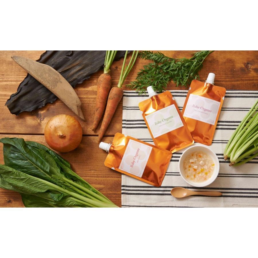 ハーフバースデープレゼント ギフト箱8袋入り 有機無農薬のお野菜と手仕込み天然だしの無添加離乳食 初期から後期 BabyOrgente|beans-japan|02