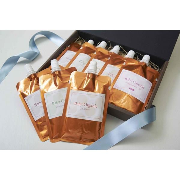 ハーフバースデープレゼント ギフト箱8袋入り 有機無農薬のお野菜と手仕込み天然だしの無添加離乳食 初期から後期 BabyOrgente|beans-japan|06