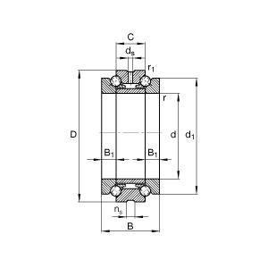 ベアリング NTN 742018GNP4 工作機械用精密転がり軸受