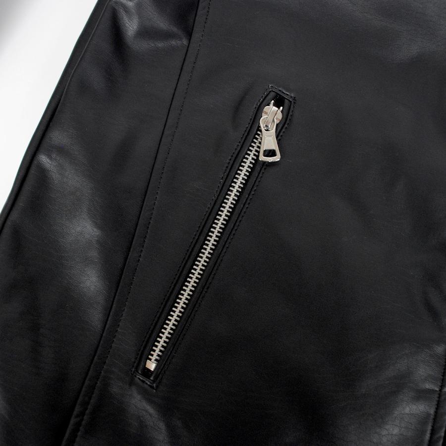 メンズ シングル ライダース レザー ジャケット PUレザー 合成皮革 冬物 冬服 beatjive801 14