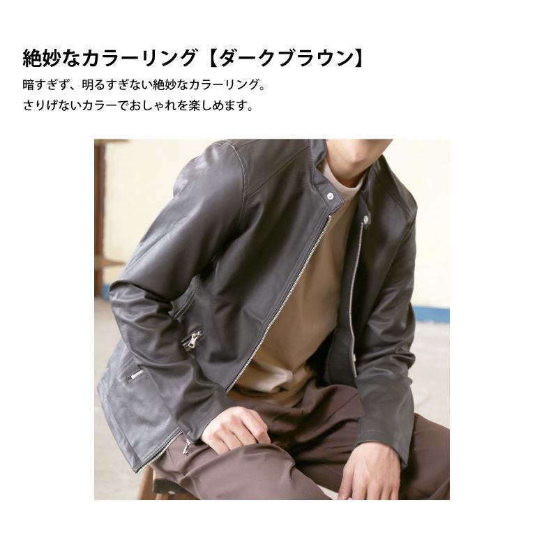 メンズ シングル ライダース レザー ジャケット PUレザー 合成皮革 冬物 冬服 beatjive801 07