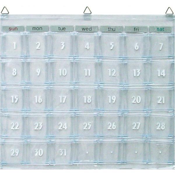 スピード対応 全国送料無料 ウォールポケット マチ付お薬カレンダー 新登場 にも オールクリア カレンダーポケット 薬管理 W−418 壁掛け 投薬カレンダー 小物入れ 薬ポケット