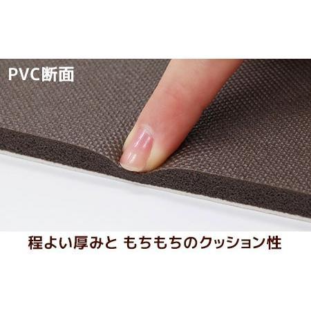 チェアパッド もちもちクッション 直径35cm PVC MATERIAL ラウンド型 抗菌 防臭 防カビ 防炎 撥水 はっ水 塩化ビニル樹脂 チェアーラグ ネコ beau-p 07