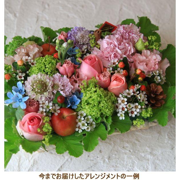 母の日 花 ギフト プレゼント 誕生日 フラワー フラワーケーキ 生花 ピンク アレンジメント ボックスフラワー お祝い お見舞い 画像 花を贈る b-p beautiful-boy 04