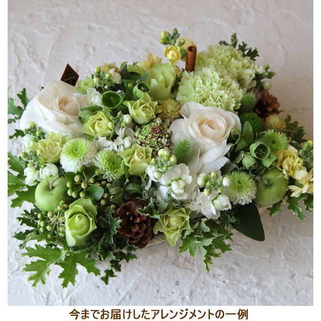 花 お供え お悔やみ ギフト ペット フラワーアレンジメント 生花 おしゃれ ホワイト メッセージカード b-w|beautiful-boy|04