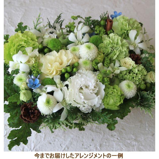 花 お供え お悔やみ ギフト ペット フラワーアレンジメント 生花 おしゃれ ホワイト メッセージカード b-w|beautiful-boy|05