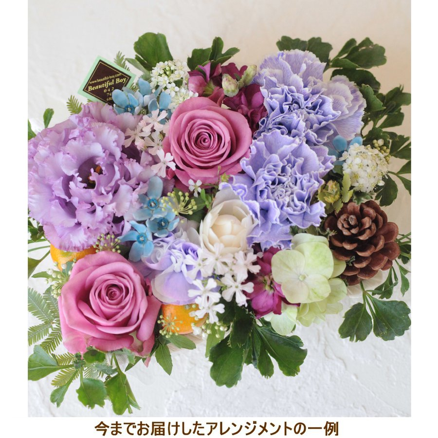 花 お供え お悔やみ ギフト ペット フラワーアレンジメント 生花 おしゃれ ブルー メッセージカード w-b|beautiful-boy