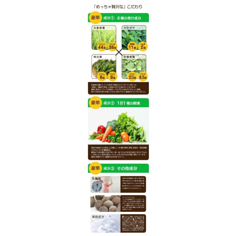 正規販売店 めっちゃぜいたくフルーツ青汁 明日葉 甘藷若葉 大麦若葉使用 めっちゃ贅沢フルーツ青汁 乳酸菌配合青汁 ダイエット 3個セット|beautycrea|10