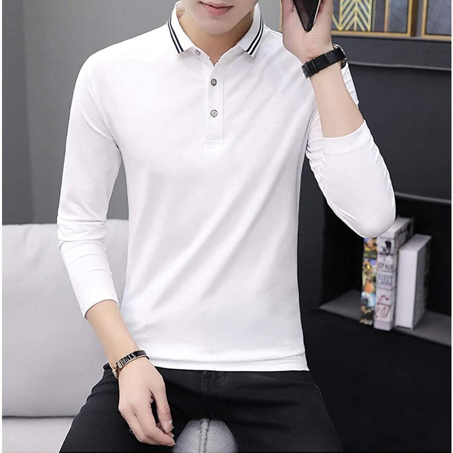 [ Smaids x Smile(スマイズ スマイル) ] ポロシャツ 長袖 通気性 シャツ ゴルフウェア シンプル 襟 トップス メンズ|beautydawn|04