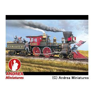 アンドレア・ミニチュアズ ANDREA MINIATURES ジェネラル 54mm セット SG-S10 列車強盗(アメリカ横断鉄道)