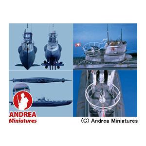 アンドレア・ミニチュアズ ANDREA MINIATURES 1/32 ドイツ・Uボート VII C LP-02 U-BOAT VII C (Complete Hull)