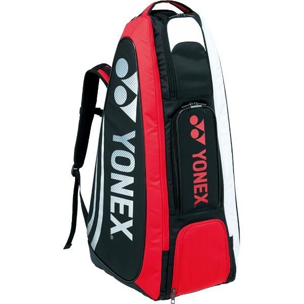 ヨネックス スタンドバッグ(リュック付) テニスラケット2本用 [カラー:ブラック×レッド] #BAG1619-187 YONEX