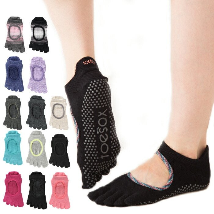 TOESOX  トゥーソックス Full Toe Bellarina Grip Socks フルトゥー バレリーナ グリップ ソックス 五本指靴下 メール便|beautyholic