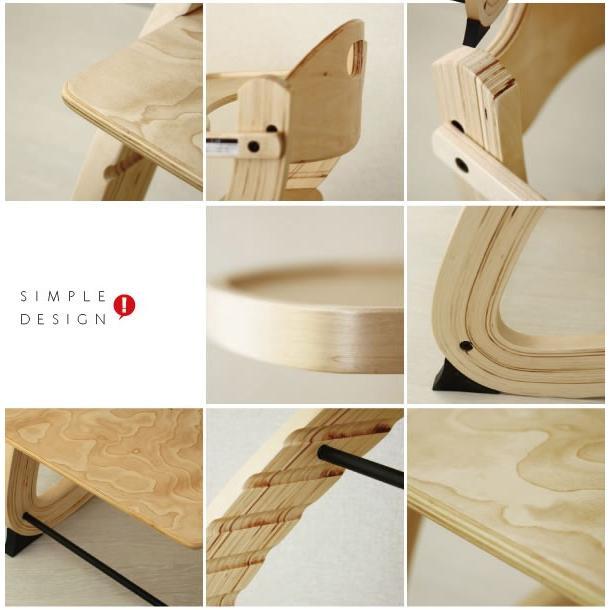 ベビーチェア ハイチェア 木製 テーブル ハイタイプ シンプル 北欧質感|bebechambre|02