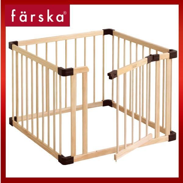 ベビーサークル 木製 ファルスカ ジョイントプレイペンネオ ドアパネル付 ドア付き|bebechambre