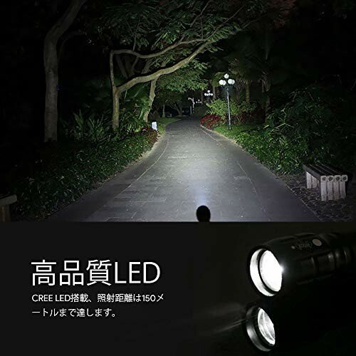 LE LED 懐中電灯 フラッシュライト ハンディライト CREE社製高輝度チップ搭載 ズーム調節 軽量 小型 電池式 単四 beck-shop 02