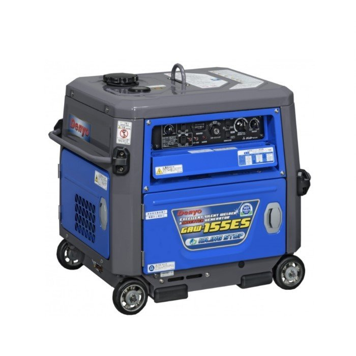 【送料無料】 デンヨー 小型ガソリンエンジン溶接機 GAW-155ES 【自動アイドリンクストップ仕様】【大特価】